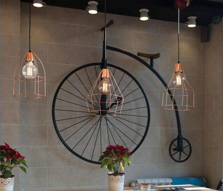 lamparas jaula cobre vintage bazar de luces
