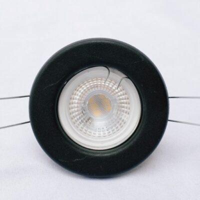 Lampara de techo, Iluminacion, Apto led, Spot de embutir, color negro.