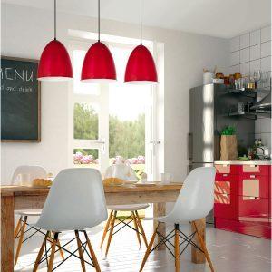 Colgante OVI tres luces en cocina