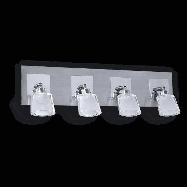 aplique para cuatro luces alumine