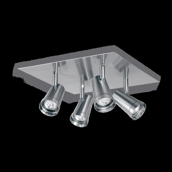 Aplique de techo para cuatro luces, dicroled, gu10