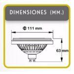 Lampara Ar111, LED, Dimmer, Dimerizable, led, iluminacion,