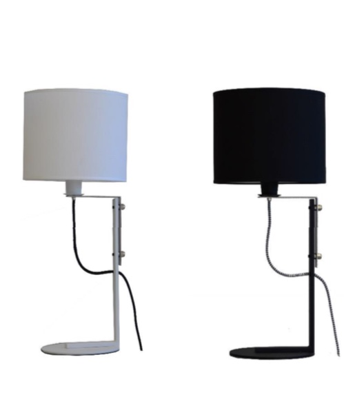 lampara de mesa, apta led, velador, cable textil, pantalla de tela, iluminacion, iluminación led,