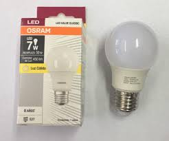 iluminacion Led, Osram, Linea Clasic, Bulbo A60, E27, Luz calida