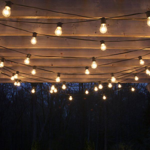 Guirnaldas de luces kermese con focos led apta for Guirnaldas de luces para exterior