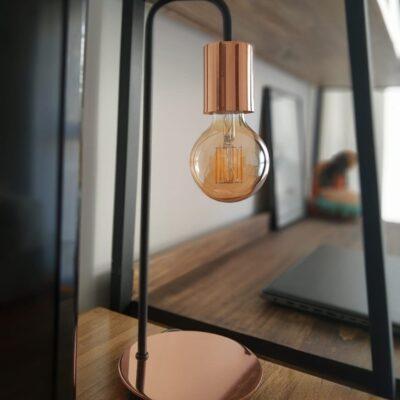 lampara wanda negra y cobre