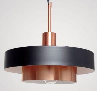 Lampara de diseño, Clara Blanc, negro y cobre