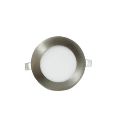Tienda Clic PANEL LED DE EMBUTIR REDONDO 6W PLATIL acero cepillado
