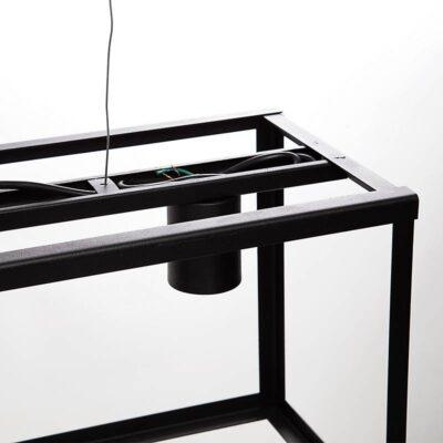 Lampara colgante pilar minimalista hierro negro