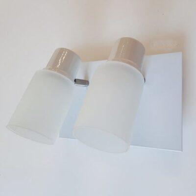aplique cuadri blanco 2 luces