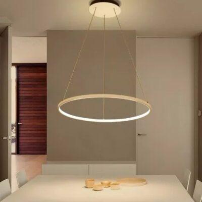 LAMPARA LED CIRCULAR EN COMEDOR