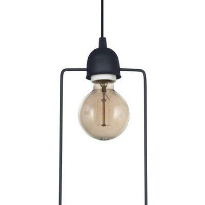 Lampara Colgante Moderno Cuadrado Hierro 1 Luz Deco Diseño