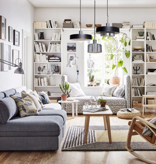 lampara de diseño acopla en living nordico