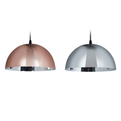 INCLUYE: -Portalámparas Cerámico -Cable negro largo 100 cm -Florón Metálico (Tapa del techo) -Pantalla 24 cm ancho – Zócalo: E27 – MATERIAL: Aluminio