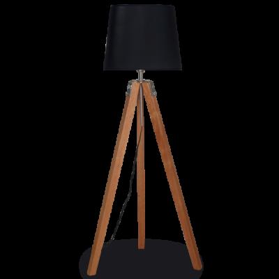 Lámpara de pie trípode 1 luz madera roble mate Lámpara: E27