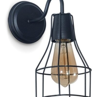 lampara-aplique-pared-jaula-botella-vintage-deco-apto-led-