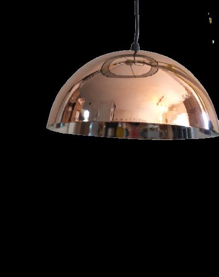 lampara media esfera cobre aluminio led