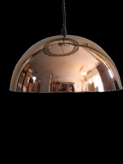 Lampara media esfera cobre 24 cm diametro