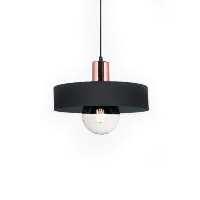 lampara balcarce 40 cm negro y cobre
