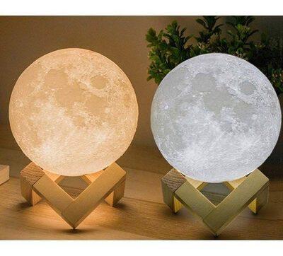 """LÁMPARA DE MESA LED LUNA """"MOON LIGHT 3D"""" 15CM TOUCH"""