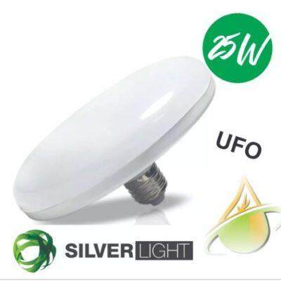 ampara Led Ufo E27 25w Silverlight Frio Calido