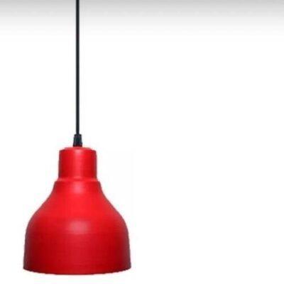 LAMPARA COLGANTE TIPO INDUSTRIAL GALPONERA VINTAGE 15 CM ROJO