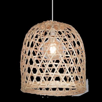 Lámpara Calada 40x40 De Mimbre Natural
