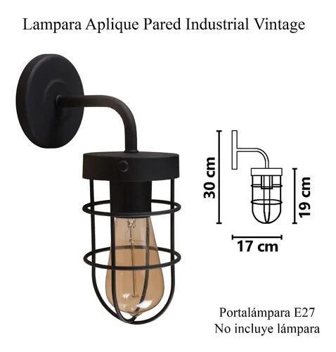 Aplique Pared Vintage Industrial Estilo Nautico Base Redonda