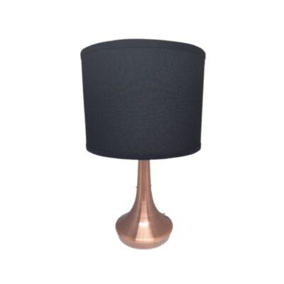 Lampara de mesa Vesta negro y cobre