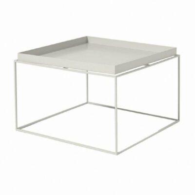 Mesa de arrime tray blanca con bandeja
