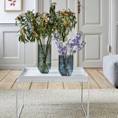 mesa ratona living con flores