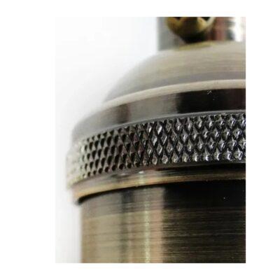 Portalampara Vintage Metalico Para Cable Textil E27