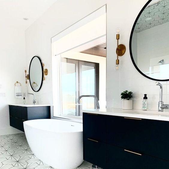Aplique dos luces world en baño moderno