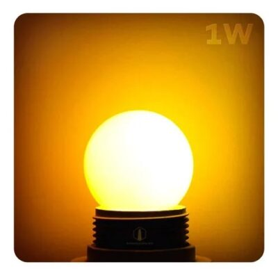 LAMPARA GOTA LED ENCENDIDA LUZ CALIDA 1W