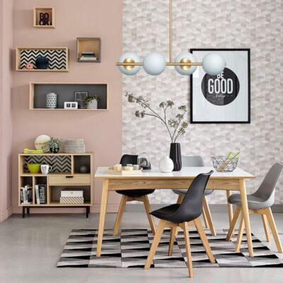 living moderno con lampara kandinks oro mate