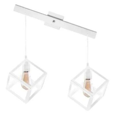 lampara cubo 2 luces blanca