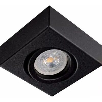 Plafon Semi Embutido Slim Cuadrado Móvil GU10 negro - Línea Vedia